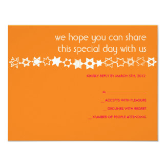 """EVERY STAR IS UNIQUE Bar Bat Mitzvah Reply Card 4.25"""" X 5.5"""" Invitation Card"""