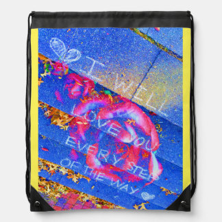 Every Step of the Way Drawstring Bag