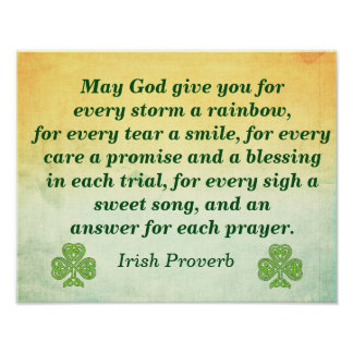Every Storm -- Irish Quote -- Poster Print