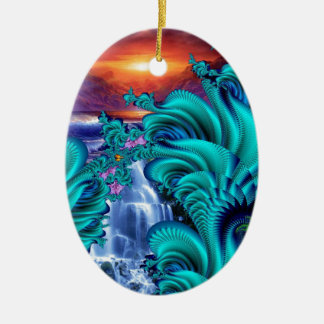 every teardrop is a waterfall 60x40 ceramic oval decoration