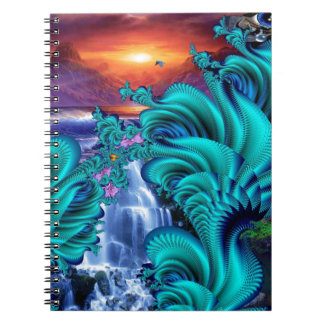 every teardrop is a waterfall 60x40 spiral note books