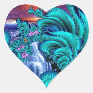 every teardrop is a waterfall 60x40 heart sticker