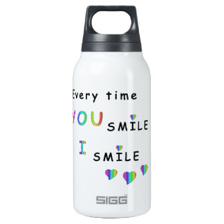 Every time you smile i smile 0.3L insulated SIGG thermos water bottle