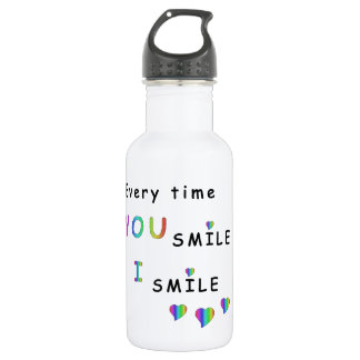 Every time you smile i smile 532 ml water bottle