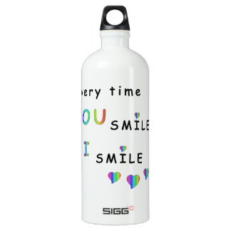 Every time you smile i smile SIGG traveller 1.0L water bottle