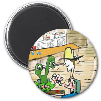 Everybody is accepted at the poker table 6 cm round magnet
