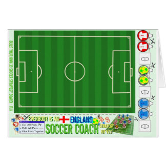 Everybody is an England Soccer Coach Strategy Kit Greeting Card