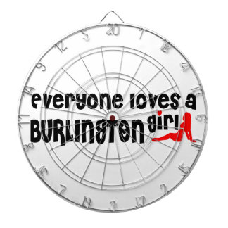 Everybody loves a Burlington Girl Dartboard