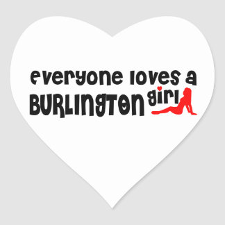 Everybody loves a Burlington Girl Heart Sticker