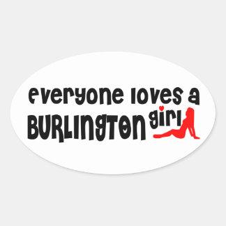 Everybody loves a Burlington Girl Oval Sticker