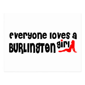 Everybody loves a Burlington Girl Postcard