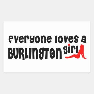 Everybody loves a Burlington Girl Rectangular Sticker