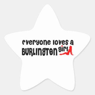 Everybody loves a Burlington Girl Star Sticker