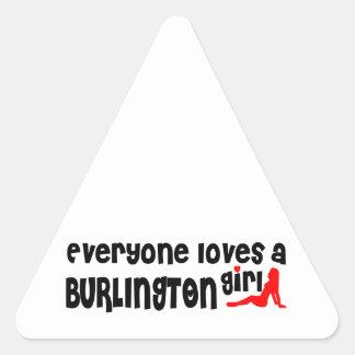 Everybody loves a Burlington Girl Triangle Sticker