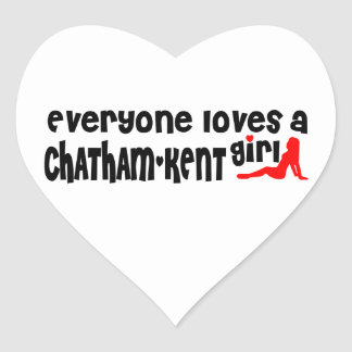 Everybody loves a Chatham-Kent Girl Heart Sticker