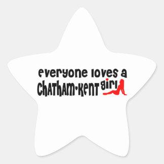 Everybody loves a Chatham-Kent Girl Star Sticker