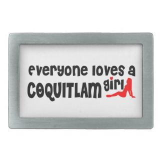 Everybody loves a Coquitlam Girl Rectangular Belt Buckles