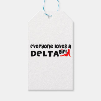 Everybody loves a Delta Girl Gift Tags