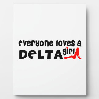Everybody loves a Delta Girl Plaque