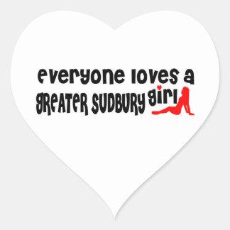 Everybody loves a Greater Sudbury Girl Heart Sticker
