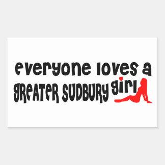 Everybody loves a Greater Sudbury Girl Rectangular Sticker
