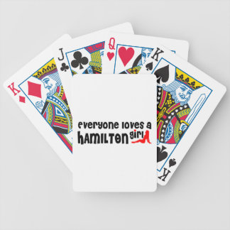 Everybody loves a Hamilton Girl Bicycle Playing Cards