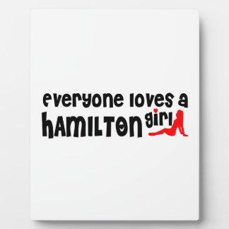 Everybody loves a Hamilton Girl Plaque