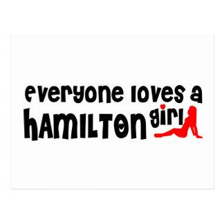 Everybody loves a Hamilton Girl Postcard