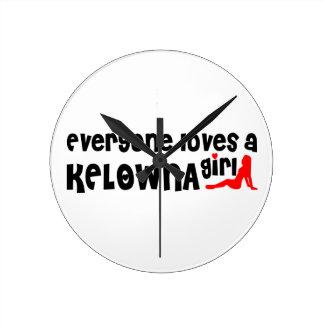 Everybody loves a Kelowna Girl Round Clock