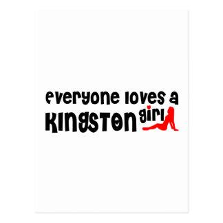 Everybody loves a Kingston Girl Postcard