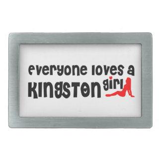 Everybody loves a Kingston Girl Rectangular Belt Buckles