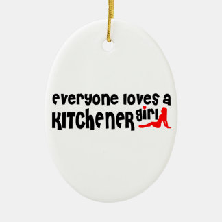 Everybody loves a Kitchener Girl Ceramic Ornament