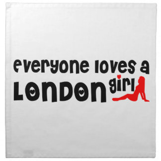 Everybody loves a London Girl Napkin