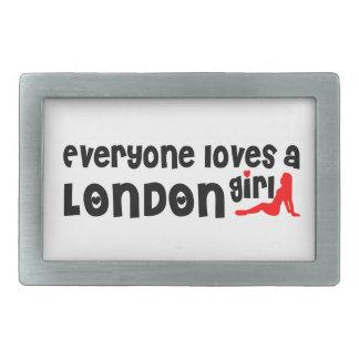 Everybody loves a London Girl Rectangular Belt Buckle