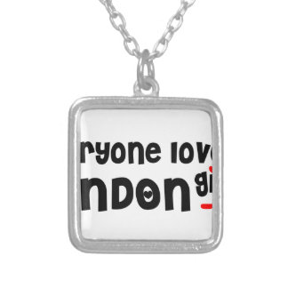 Everybody loves a London Girl Silver Plated Necklace