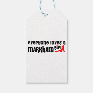 Everybody loves a Markham Girl Gift Tags