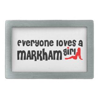 Everybody loves a Markham Girl Rectangular Belt Buckles