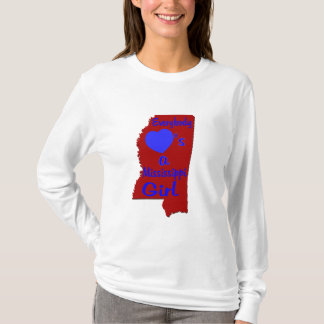 Everybody Loves a Mississippi Girl Crimson and Blu T-Shirt