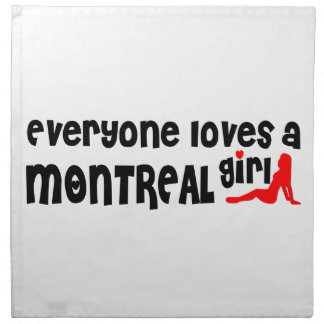 Everybody loves a Montreal Girl Napkin