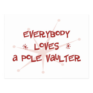 Everybody Loves A Pole Vaulter Postcard