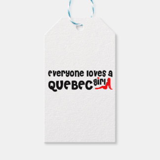 Everybody loves a Quebec Girl Gift Tags