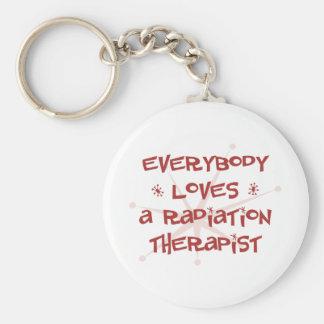 Everybody Loves A Radiation Therapist Basic Round Button Key Ring