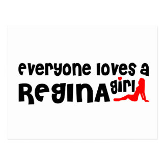 Everybody loves a Regina Girl Postcard