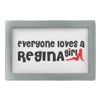 Everybody loves a Regina Girl Rectangular Belt Buckle