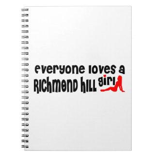 Everybody loves a Richmond Girl Spiral Notebook