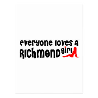 Everybody loves a Richmond Hill Girl Postcard