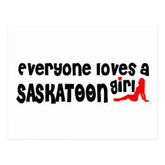 Everybody loves a Saskatoon Girl Postcard