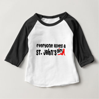 Everybody loves a St. John's Girl Baby T-Shirt