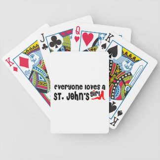 Everybody loves a St. John's Girl Bicycle Playing Cards