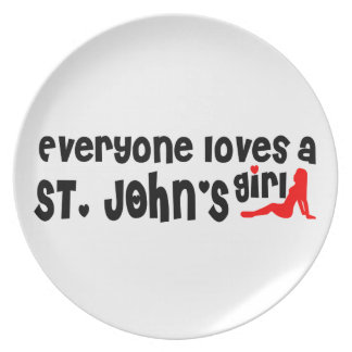 Everybody loves a St. John's Girl Plate